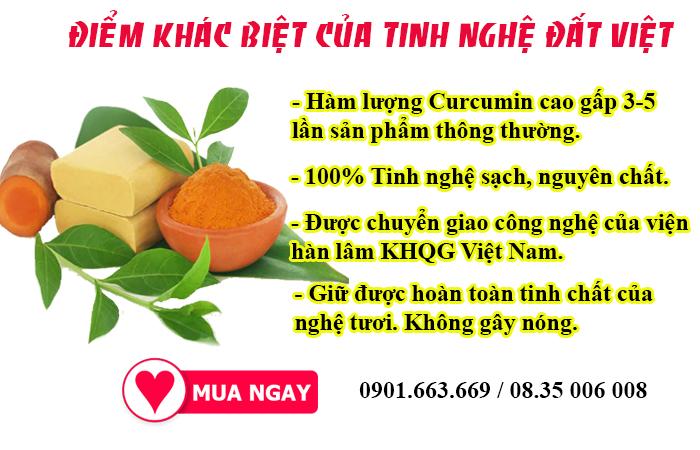 Mua ngay tinh nghệ Đất Việt