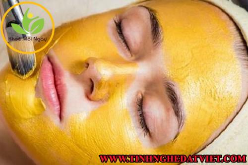mặt nạ tinh bột nghệ tốt cho da